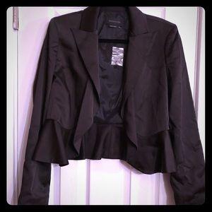 BCBGMaxAria Black Satiny Jacket